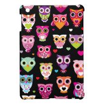 Cute retro owl pattern illustration ipad cover for the iPad mini