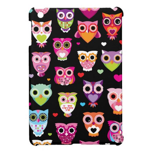 Cute retro owl pattern illustration ipad iPad mini covers