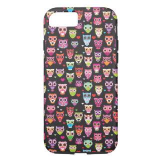 Cute retro owl pattern iPhone 7 case