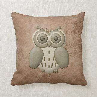 Cute Retro Owl Pillow