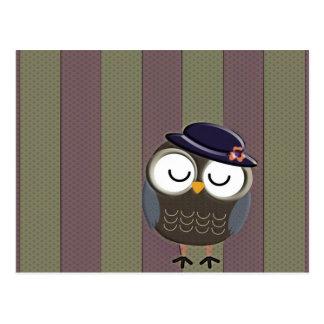 Cute Retro Owl Postcard