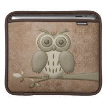 Cute Retro Owl Universal iPad Sleeve