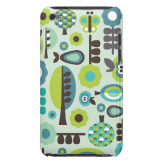 Cute retro pattern flowers ipod case