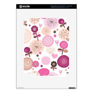 Cute retro powder pastel flowers pattern ipad iPad 3 decal