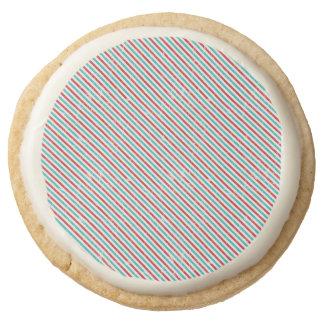 Cute Retro Print Shortbread Cookies - One Dozen