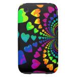 Cute retro rainbow hearts tough iPhone 3 cases