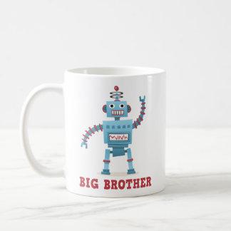 Cute retro robot cartoon android big brother classic white coffee mug