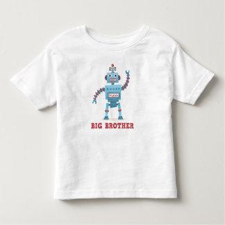 Cute retro robot cartoon android big brother toddler t-shirt