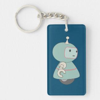 Cute Retro Robot Illustration Keychain