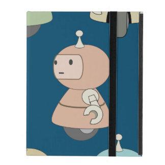 Cute Retro Robot Pattern iPad Folio Case