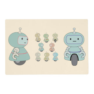 Cute Retro Robot Pattern Placemat