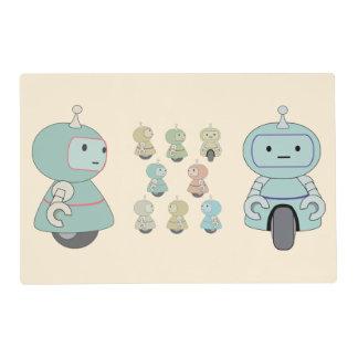 Cute Retro Robot Pattern Placemat