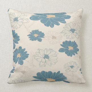 Cute retro romantic daisy throw pillow