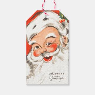 Cute Retro Santa Claus Gift Tags