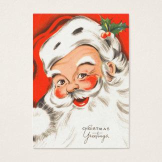 Cute Retro Santa Name Tags