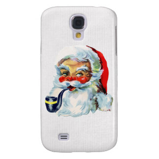 Cute Retro Santa with pipe Samsung Galaxy S4 Cover
