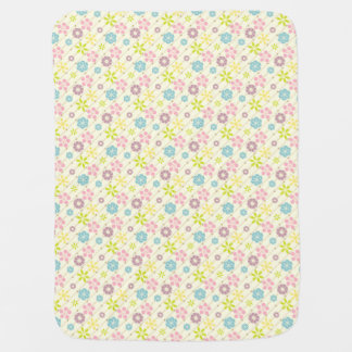 Cute retro spring look floral pattern swaddle blankets