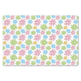 Cute Retro Summer Colors Flower Pattern Tissue Paper