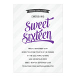 Cute Retro Sweet Sixteen Birthday Party Personalized Invitation