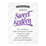 Cute Retro Sweet Sixteen Birthday Party Personalized Invitation