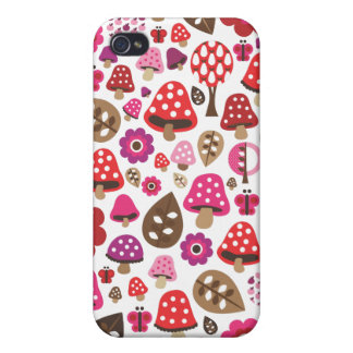 Cute retro toadstool butterfly kids iphone case iPhone 4/4S cases