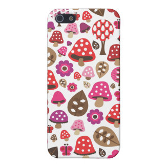 Cute retro toadstool butterfly kids iphone case cases for iPhone 5