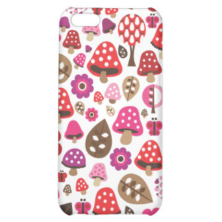 Cute retro toadstool butterfly kids iphone case iPhone 5C cases