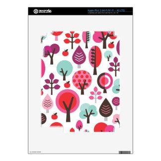 Cute retro tree apple leaf pattern ipad iPad 3 decals