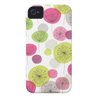 Cute retro tree flower pattern design iPhone 4 case