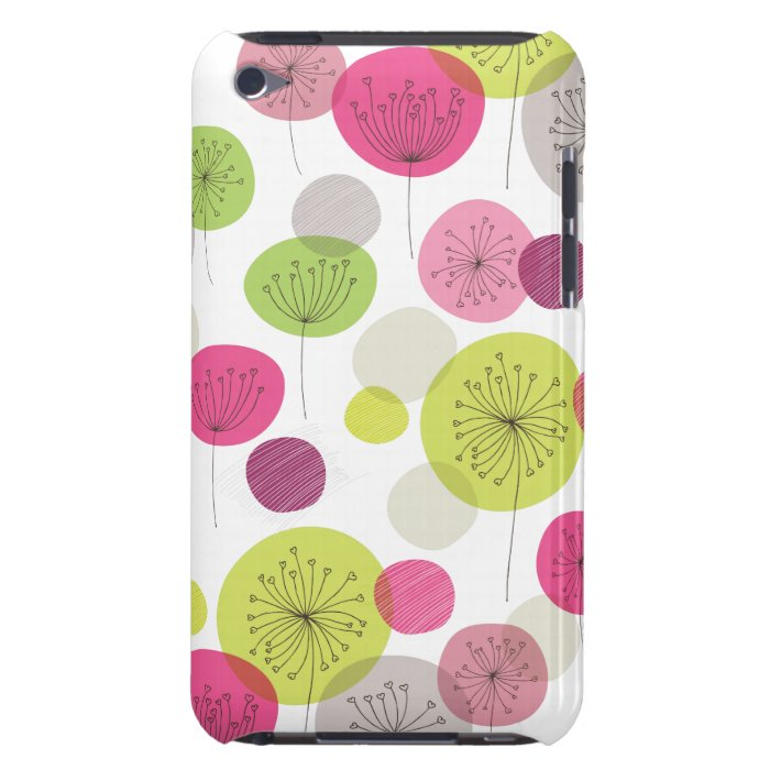 Cute retro tree flower pattern design iPod Case-Mate case