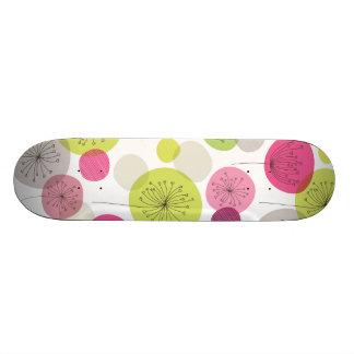 Cute retro tree flower pattern design skateboard deck