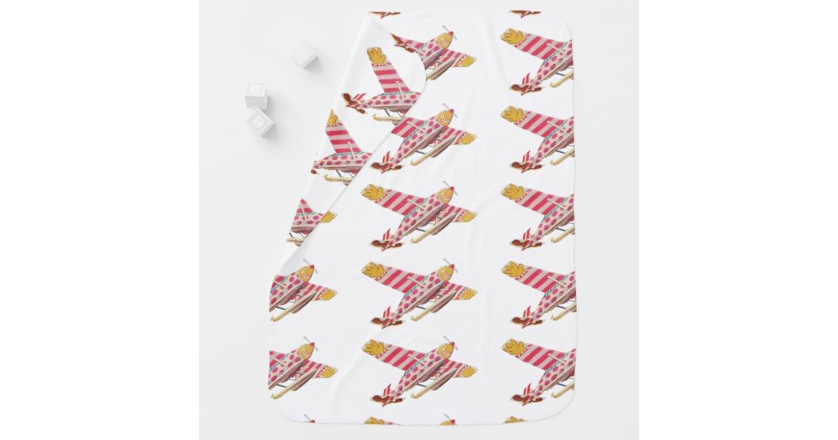 Cute Retro Vintage Airplane Baby Blanket Zazzle Com