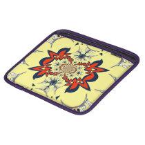 Cute retro vintage floral pattern art design iPad sleeve