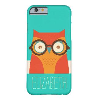 Cute Retro Vintage Owl Monogram iPhone 6 Case