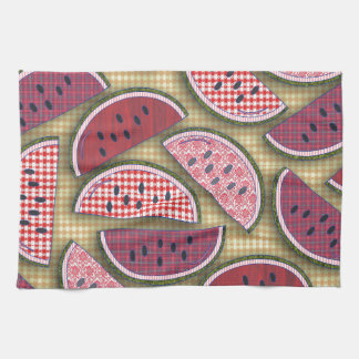 Cute Retro Watermelons Hand Towels