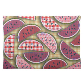 Cute Retro Watermelons Placemat