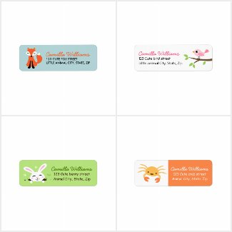Cute return address labels