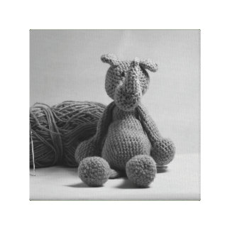 Cute rhino design cards and paper products canvas print