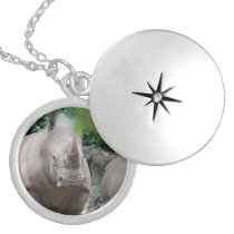 Cute Rhino Silver Plated Necklace