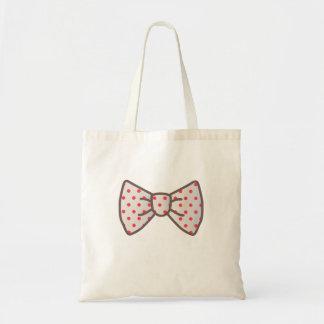 Cute Ribbon with Polka-dot Budget Tote Bag