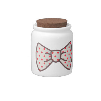 Cute Ribbon with Polka-dot Candy Dish