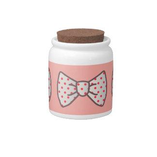 Cute Ribbon with Polka-dot Candy Jar
