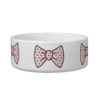Cute Ribbon with Polka-dot Cat Water Bowl