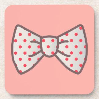 Cute Ribbon with Polka-dot Coasters