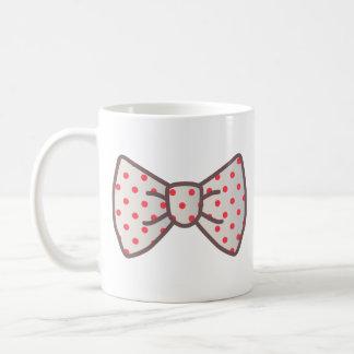 Cute Ribbon with Polka-dot Coffee Mugs