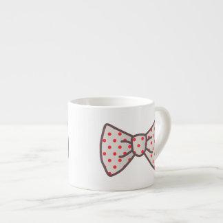 Cute Ribbon with Polka-dot Espresso Mugs