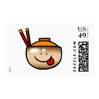 Cute rice bowl stamps
