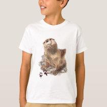 Cute River Otter, Animal Tracks, Wildlife T-Shirt
