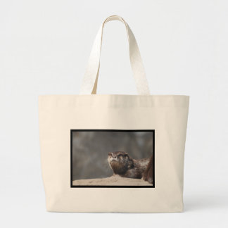 Cute River Otter Canvas Bags