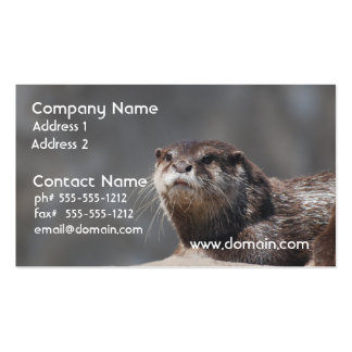Cute River Otter Business Cards